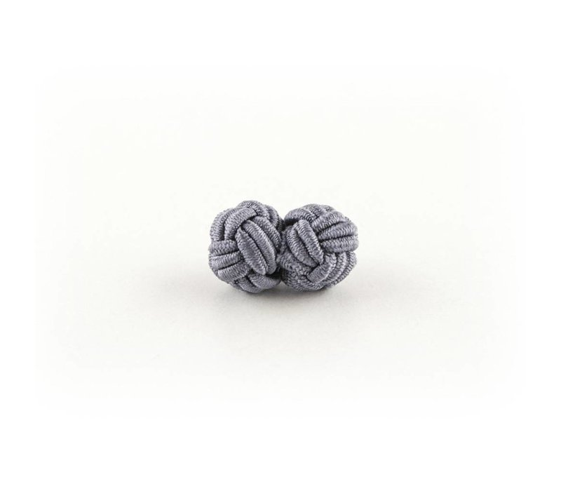 Stoffen manchetknoop  grijs