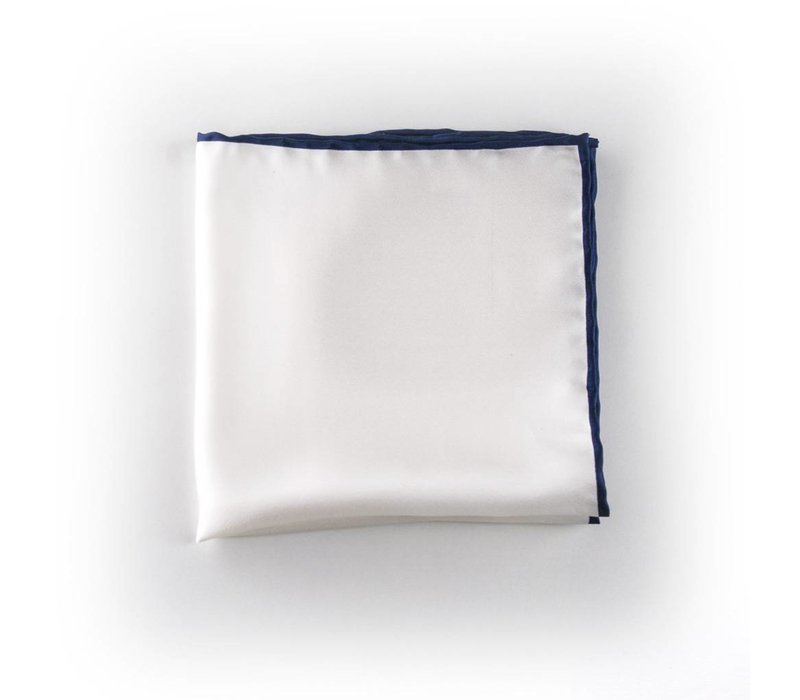 Wit pochet zijde