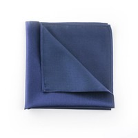 Blauw pochet zijde