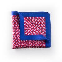 Rood paisley pocket zijde
