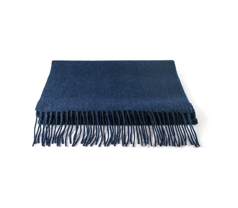 Wollen sjaal blauw