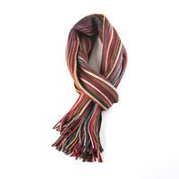 Multicolor sjaal rood