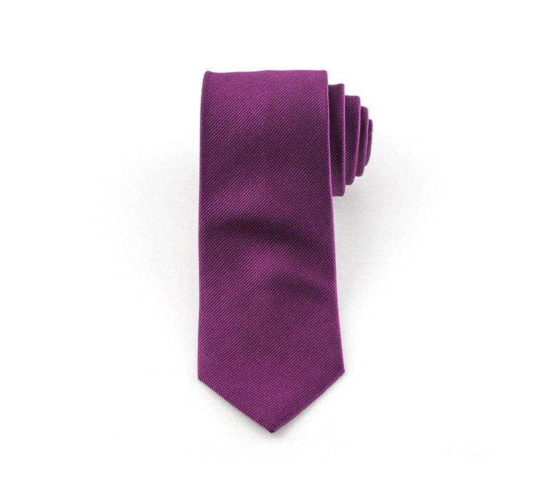 Aubergine stropdas