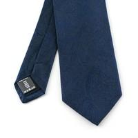 Blauwe  royal paisley zijden stropdas