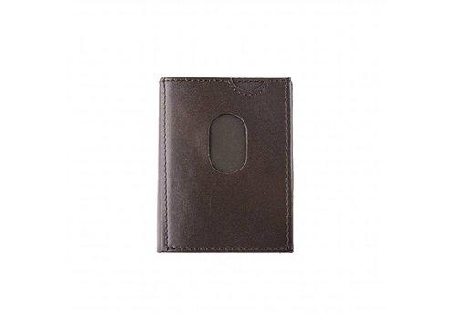Bruine leren mini portemonnee