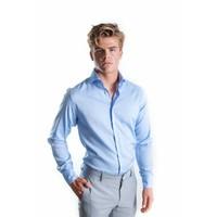 Blauw royal oxford overhemd