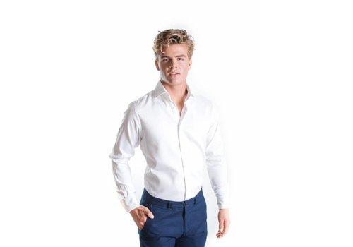 Wit royal oxford overhemd