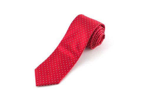 Rode stropdas gestipt