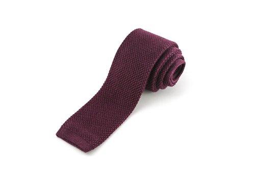 Bordeaux gebreide stropdas