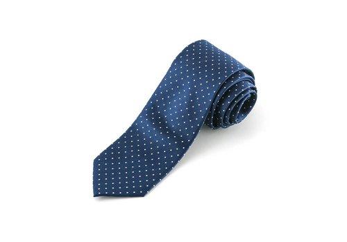 Blauwe stropdas gestipt
