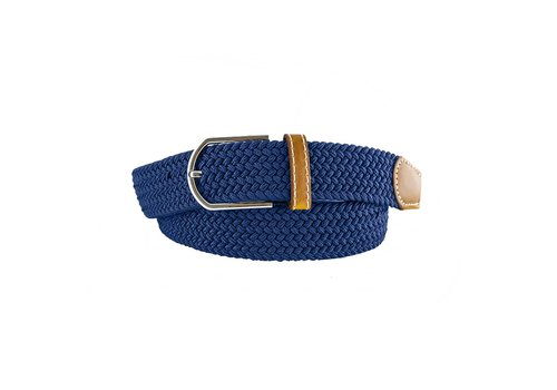 Blauwe geweven riem