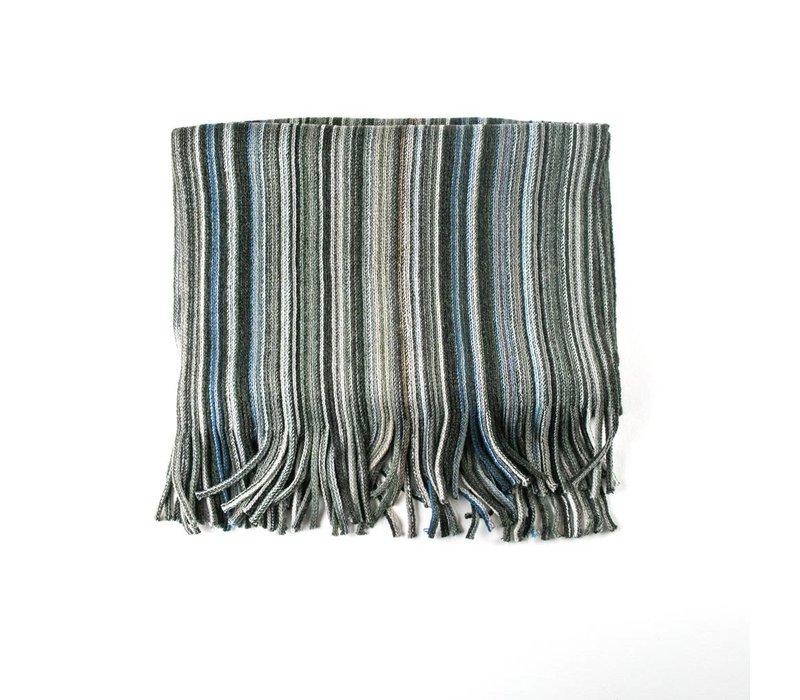 Multicolor sjaal grijs