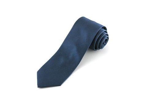 Blauwe pindot stropdas