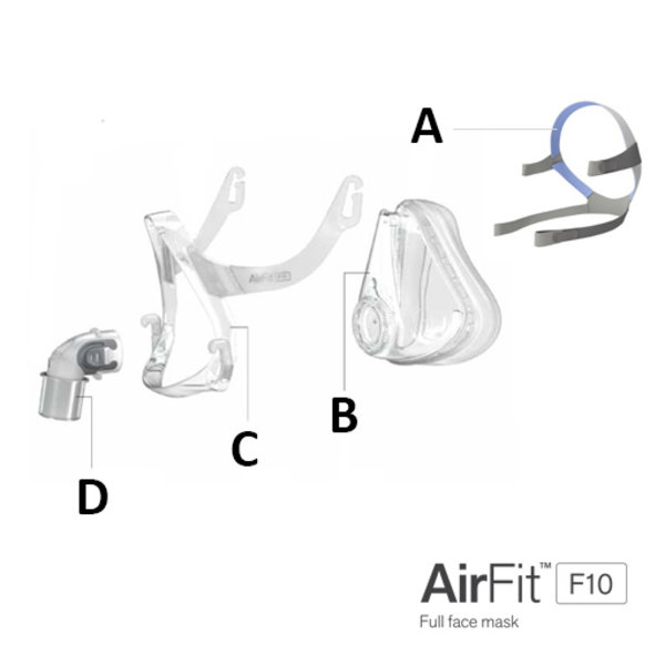 ResMed  AirFit F10 - Bulle faciale