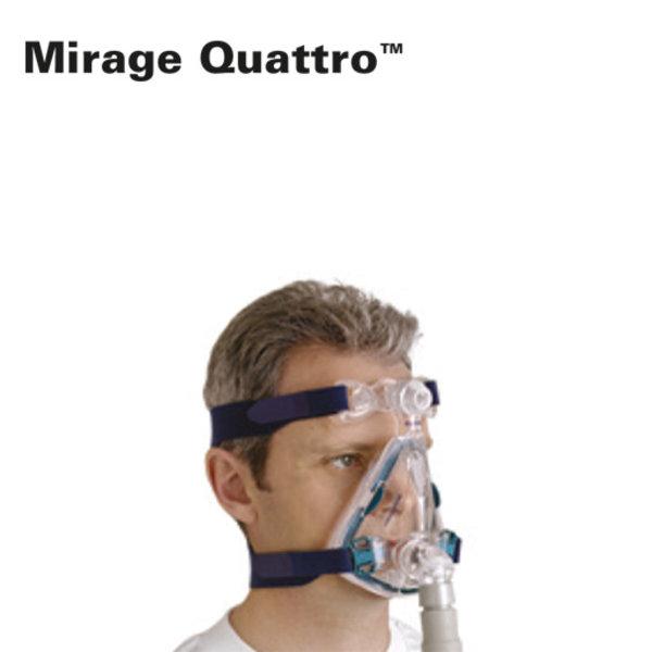 ResMed  Mirage Quattro - Neus-Mond cpap masker - ResMed