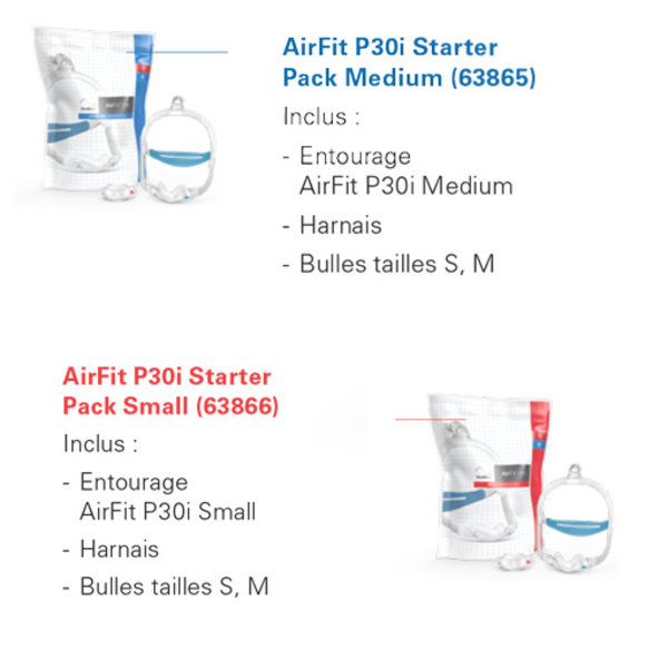 ResMed  AirFit P30i QuietAir - cpap mask - ResMed