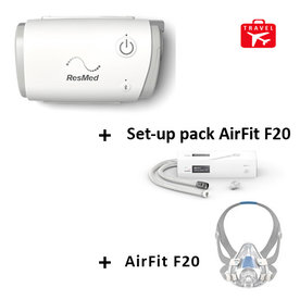 ResMed  CPAP de voyage AirMini ResMed  + Masque AirFit F20