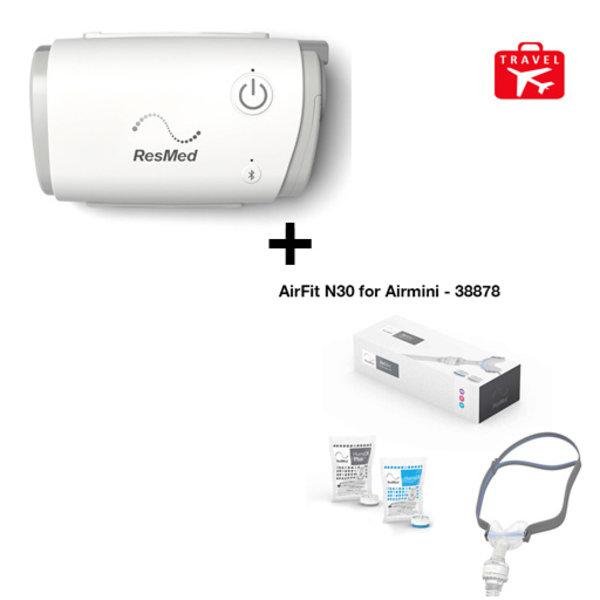 ResMed  CPAP de voyage AirMini  + Masque AirFit N30