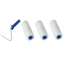 Paint roller 3 Mini paint rollers for paint and oil etc. incl bracket ACTION!