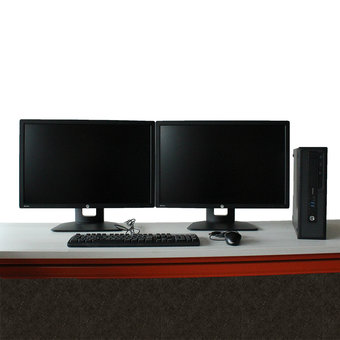 HP Elitedesk 800 G2 SFF i5 + 2x HP Z24i