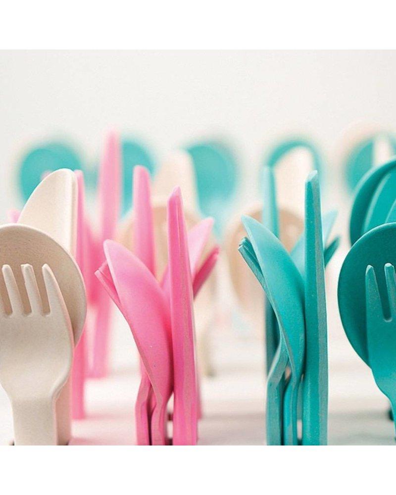 Biobu Bambino Trio Cutlery Set white (fork,spoon, knife)