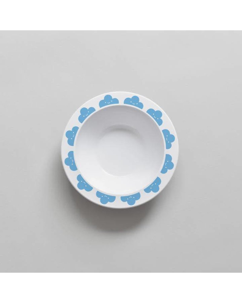 Buddy and Bear Happy Clouds Bowl (Blue)