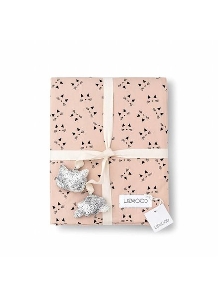 Liewood Ingeborg junior bedding-Cat-Rose blush (100 x 140 cm)