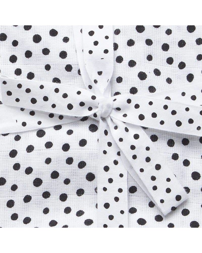 Done by Deer Swaddle, 2-pack, Happy dots, grey (120 x 120 cm)