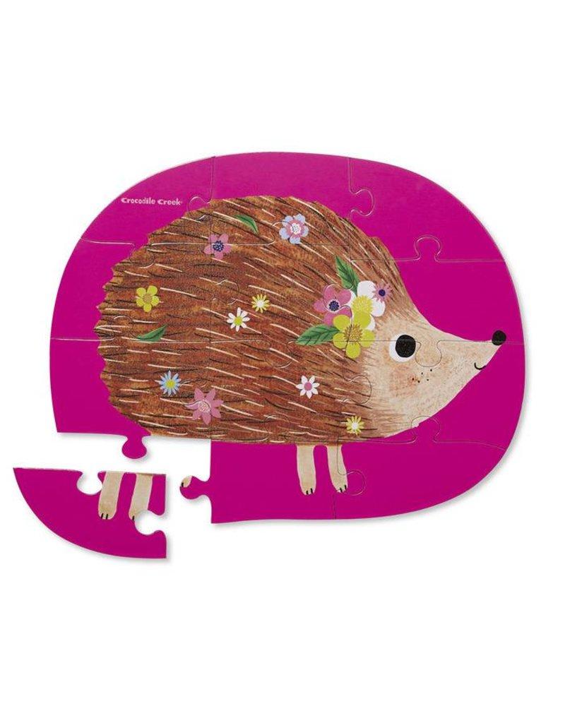 Crocodile Creek 12 pc Mini Puzzle - Happy Hedgehog