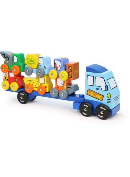 Vilac Vrachtwagen wegenwerkvoertuigen stapelspel