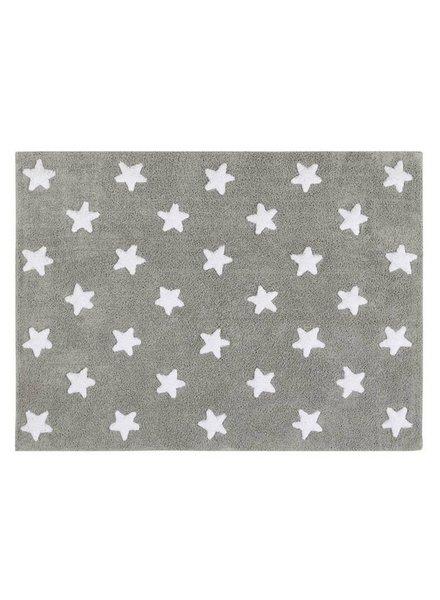 Lorena Canals Wasbaar tapijt - Stars grey/white