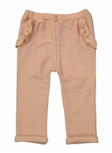 Blune Broek - lurex harem pants with flounce