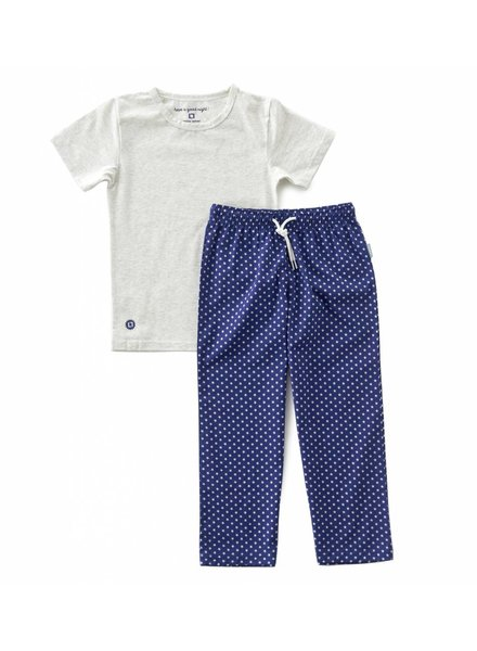 Little Label pyjamas set trousers with cord & shirt boys  -  blue star