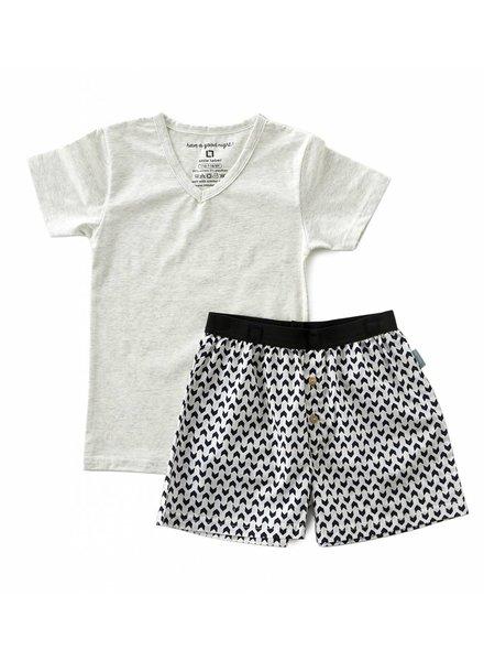 Little Label pyjamas-set with shorts and shirt boys  -  arrow