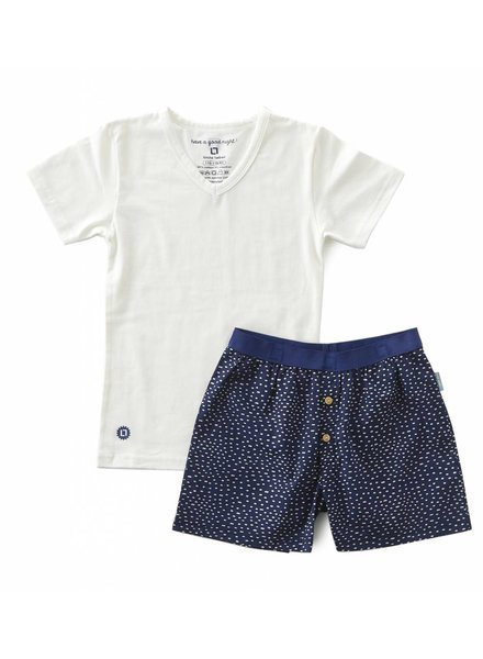 Little Label pyjamas-set with shorts and shirt boys  -  blue dot