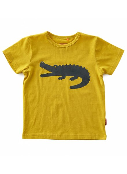 Tapete boys T shirt short sleeves   -  golden yellow-crocodile