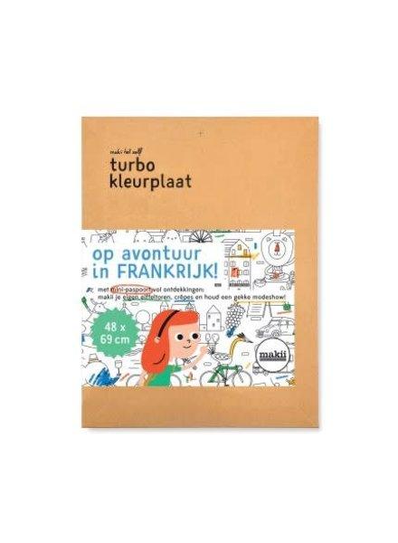 Makii Turbo kleurplaat FRANKRIJK