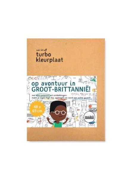 Makii Turbo kleurplaat GROOT-BRITTANNIË