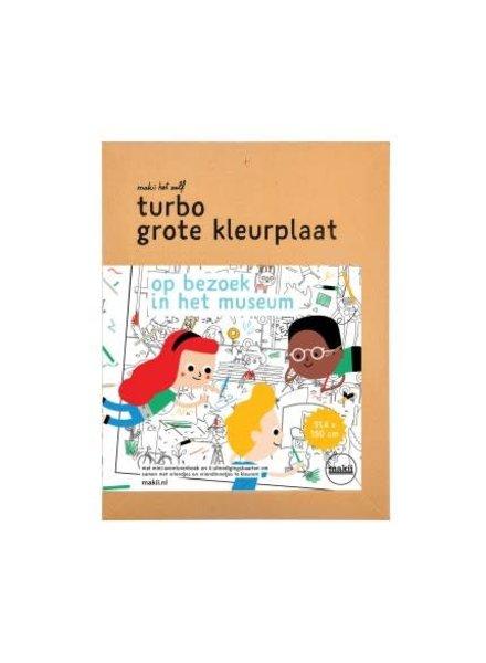 Makii Turbo grote kleurplaat MUSEUM