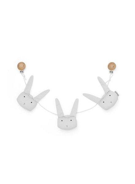 Liewood Holger pram chain rabbit - Dumbo grey