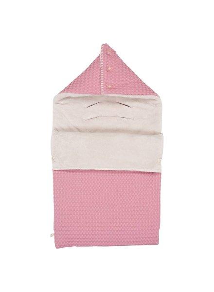 Koeka Baby voetenzak Oslo - Blush pink/pebble