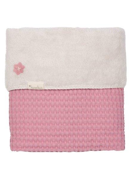 Koeka Deken wieg Oslo - blush pink/pebble