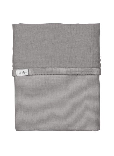Koeka Deken ledikant altea stripes - Steel Grey