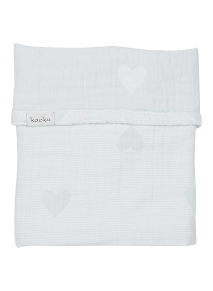 Koeka Deken wieg Altea Hearts - Soft mint