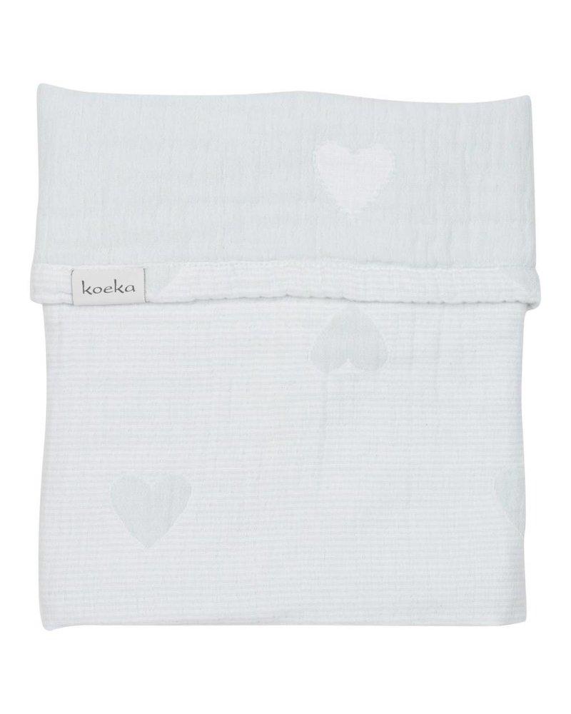 Koeka Deken wieg Altea Hearts - Soft mint