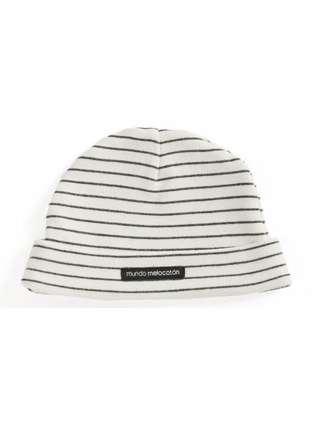 Mundo Melocoton Baby Hat Interlock La Línea Off-White