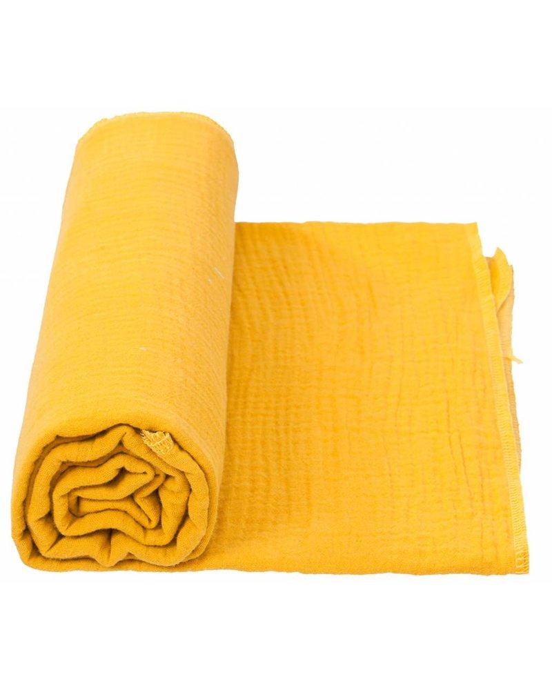 Cottonbaby Cottonsoft multidoek XL okergeel