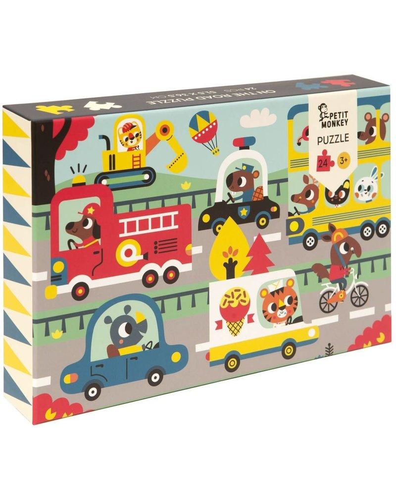 Petit Monkey On the road puzzle