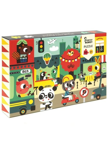 Petit Monkey In the city puzzle