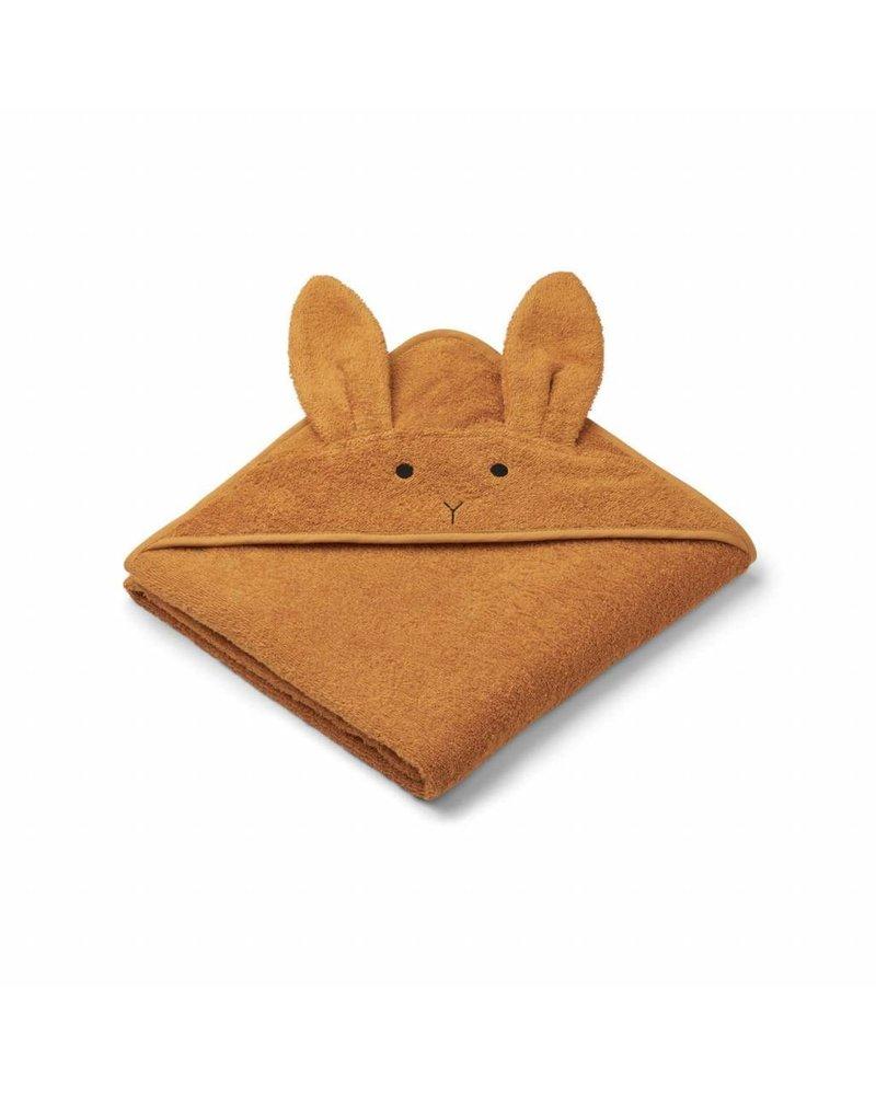 Liewood Augusta Hooded Towel - Rabbbit Mustard